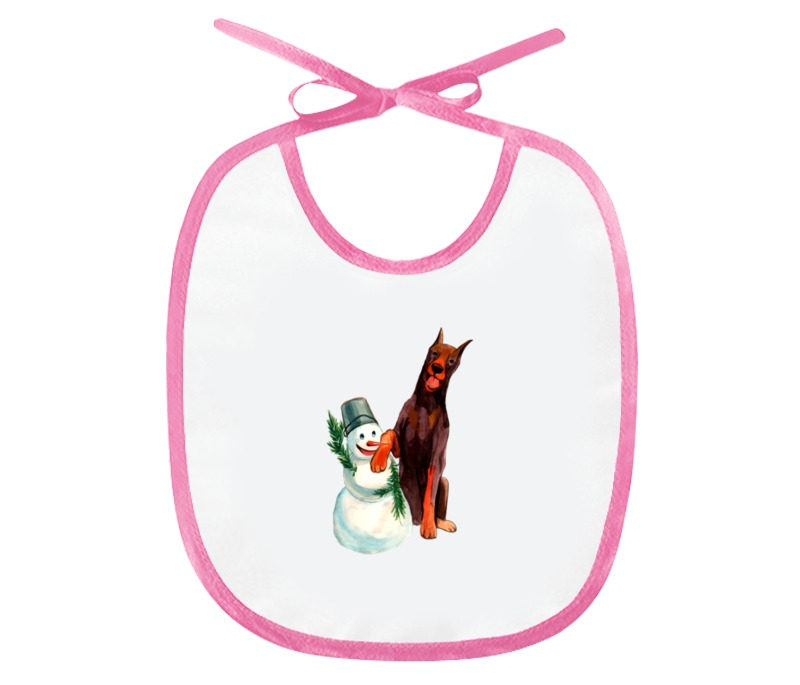 Слюнявчик Printio Забавная акварельная собака, символ 2018 года