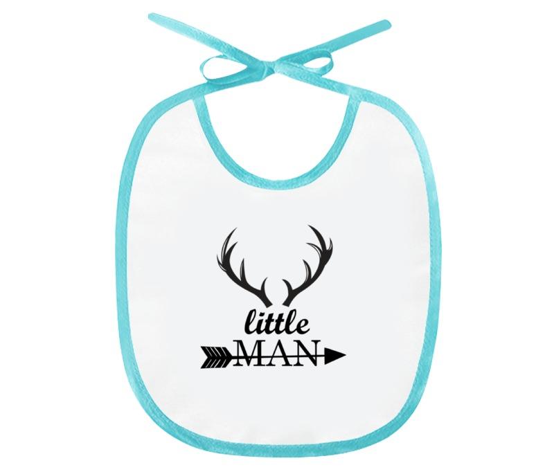 Слюнявчик Printio Little man - для маленького мальчика the little man