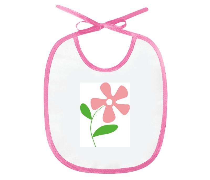 Слюнявчик Printio Розовый цветочек luomu розовый