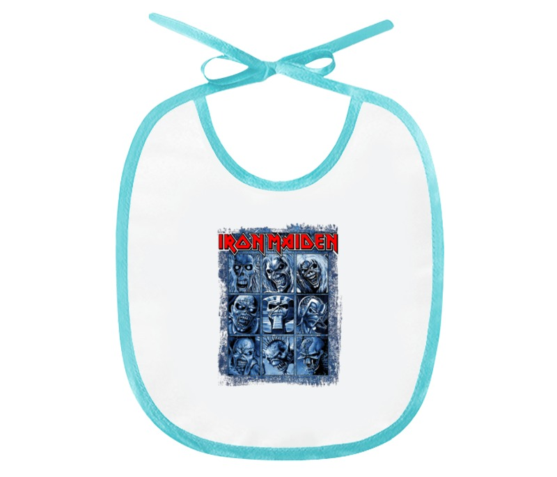 Слюнявчик Printio Iron maiden band шапка buff knitted