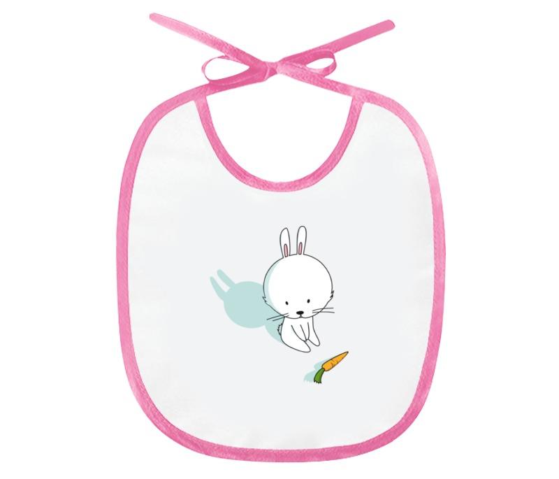 Слюнявчик Printio Кролик с морковкой слюнявчик printio кролик с морковкой