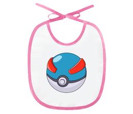 "Слюнявчик ""Покебол"" - pokemon, покемон, пикачу, pikachu, pokemon go"