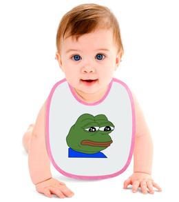 """Слюнявчик """"SAD FROG"""" - мем, meme, грустная лягушка, sad frog"""