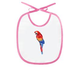 """Слюнявчик """"Попугай Ара"""" - арт, животные, рисунок, птицы, попугай"""