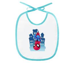 "Слюнявчик ""Спайдермен на паутине"" - комикс, супергерой, marvel, марвел, спайдермен"