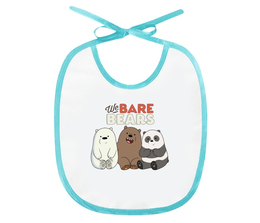 "Слюнявчик ""We bare bears"" - панда, медведи, гризли, webarebears"