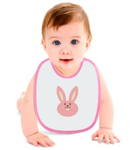 """Слюнявчик """"Зайка"""" - животные, рисунок, детский, кролик, зайчик"""