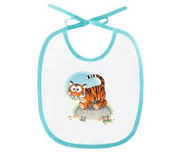 """Слюнявчик """"Тигрёнок"""" - животные, рисунок, детский, тигр, тигрёнок"""