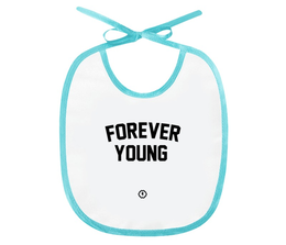 "Слюнявчик ""Forever young by Brainy"" - forever, детская, young, brainy, brainystore"
