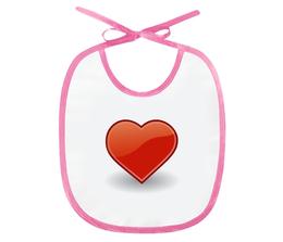 """Слюнявчик """"Heart"""" - сердце, любовь, heart, символ"""