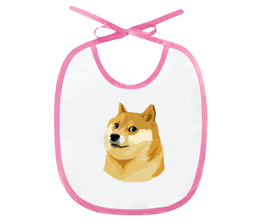 "Слюнявчик ""DOGE DOGE"" - мем, dog, собака, meme, doge"