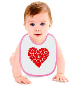 """Слюнявчик """"Hearts"""" - сердце, любовь, heart, символ"""