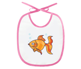 """Слюнявчик """"Золотая рыбка"""" - золотая рыбка, рыба, сказка, рисунок, детский"""