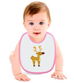 """Слюнявчик """"Оленёнок"""" - арт, животные, рисунок, детский, олень"""