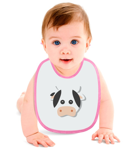 "Слюнявчик ""Бурёнка"" - животные, рисунок, детский, игрушка, корова"