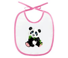 "Слюнявчик ""Мишка"" - добрый, мишка, панда, детский"