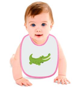 """Слюнявчик """"Крокодильчик"""" - арт, животные, рисунок, крокодил, детский"""