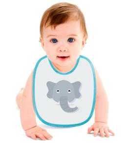 """Слюнявчик """"Слонёнок"""" - рисунок, слон, детский, игрушка, слонёнок"""