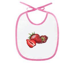 """Слюнявчик """"Сладкая клубничка"""" - клубника, подарок малышу, для самых маленьких, мама и малыш"""