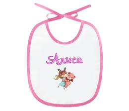 "Слюнявчик ""Алиса"" - имена, девочка, мишка"