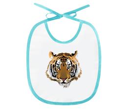 "Слюнявчик ""Взгляд тигра"" - рисунок, тигр, взглчд"
