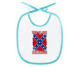 "Слюнявчик ""Флаг Конфедерации США"" - война, америка, флаг, сша, флаг конфедерации"