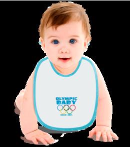 "Слюнявчик ""Olympic baby"" - для детей, olympic games, sochi 2014, сочи 2014, olympic baby, олимпийские игры, for baby, олимпийский ребенок"