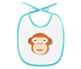 "Слюнявчик ""Мартышка"" - рисунок, детский, мартышка, обезьяна, игрушка"