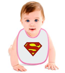 "Слюнявчик ""Знак Супермена"" - супермен, комиксы"