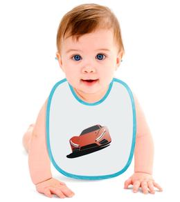 """Слюнявчик """"красная машина"""" - купить, для мальчика, для девочки, для ребенка, фартучек"""