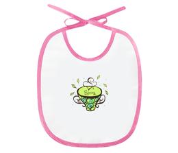 """Слюнявчик """"Зеленый чай"""" - весна, подарок малышу, новорожденному, маме и малышу"""