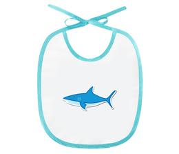 "Слюнявчик ""Акула"" - хищник, море, рисунок, рыба, акула"