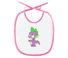 """Слюнявчик """"Spike"""" - my little pony, мой маленький пони, дракончик, спайк, для детей"""