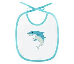 "Слюнявчик ""Акула"" - море, рисунок, детский, рыба, акула"