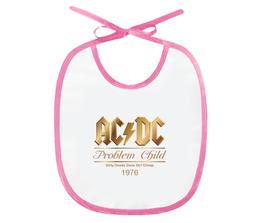 "Слюнявчик ""AC/DC"" - music, rock, золото, хард-рок, асдс"