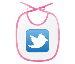 """Слюнявчик """"Twitter"""" - символ, знак, логотип, logo"""