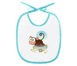 """Слюнявчик """"Любопытная мартышка"""" - стиль, рисунок, детский, мартышка, обезьяна"""