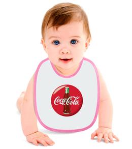 """Слюнявчик """"Coca-Cola"""" - logo, знак, логотип, символ"""