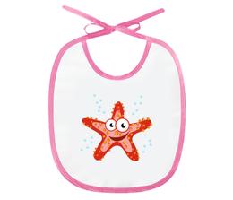"""Слюнявчик """"Морская звезда"""" - арт, животные, море, детский, морская звезда"""
