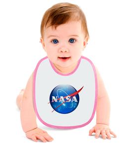 """Слюнявчик """"NASA SPACE"""" - space, стиль, космос, вселенная, universe"""