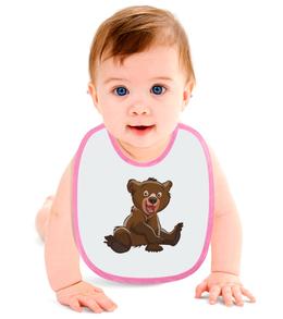 """Слюнявчик """"Медвежонок"""" - милый, мультик, малыш, медвежонок"""