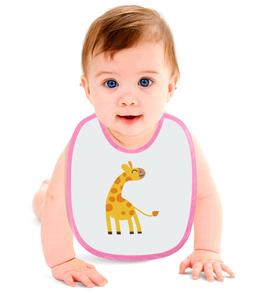 "Слюнявчик ""Жираф"" - африка, жираф"