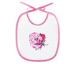 """Слюнявчик """"Прекрасная роза"""" - роза, подарок малышу, для самых маленьких, мама и малыш, подарок дочке"""