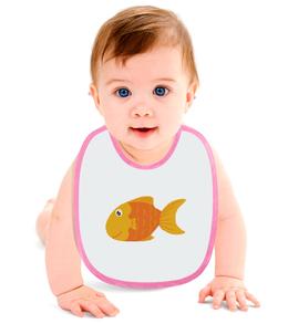 """Слюнявчик """"Золотая Рыбка"""" - животные, море, рыбы, золотая рыбка"""