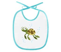 """Слюнявчик """"Морская черепаха"""" - черепаха, детский, море, животные, рисунок"""