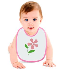 """Слюнявчик """"розовый цветочек"""" - купить, для мальчика, для девочки, для ребенка, фартучек"""
