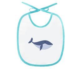 "Слюнявчик ""Рыба-кит"" - море, рисунок, детский, кит, рыба"
