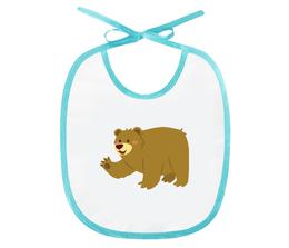 """Слюнявчик """"Бурый мишка"""" - арт, животные, медведь, рисунок, детский"""