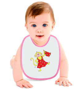 """Слюнявчик """"Мартышкина радость"""" - детям, мартышка, обезьяна, символ года, малышу"""
