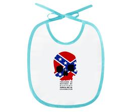 """Слюнявчик """"Флаг Конфедерации США"""" - череп, америка, флаг, сша, флаг конфедерации"""